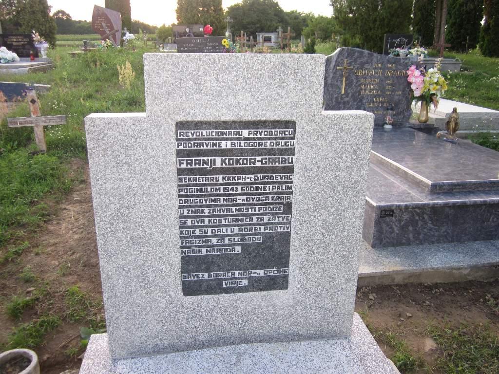 Obnovljena spomen kosturnica Franji Kokoru-Grabu