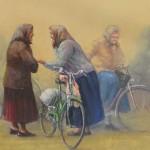 SLUŠAJ ME !, 2009. akril na platnu, 50x100,