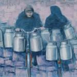 MLJEKARICE, 2010., pastel, 35x50