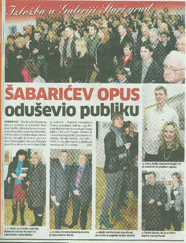 Šabarič Zdravko- izložba slika