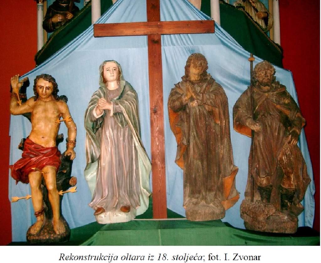 Rekonstrukcija oltara iz 18 stoljeća.