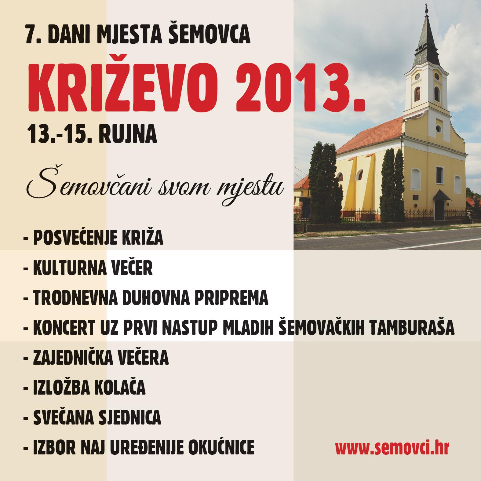 Dani mjesta Šemovaca program drugi dan.
